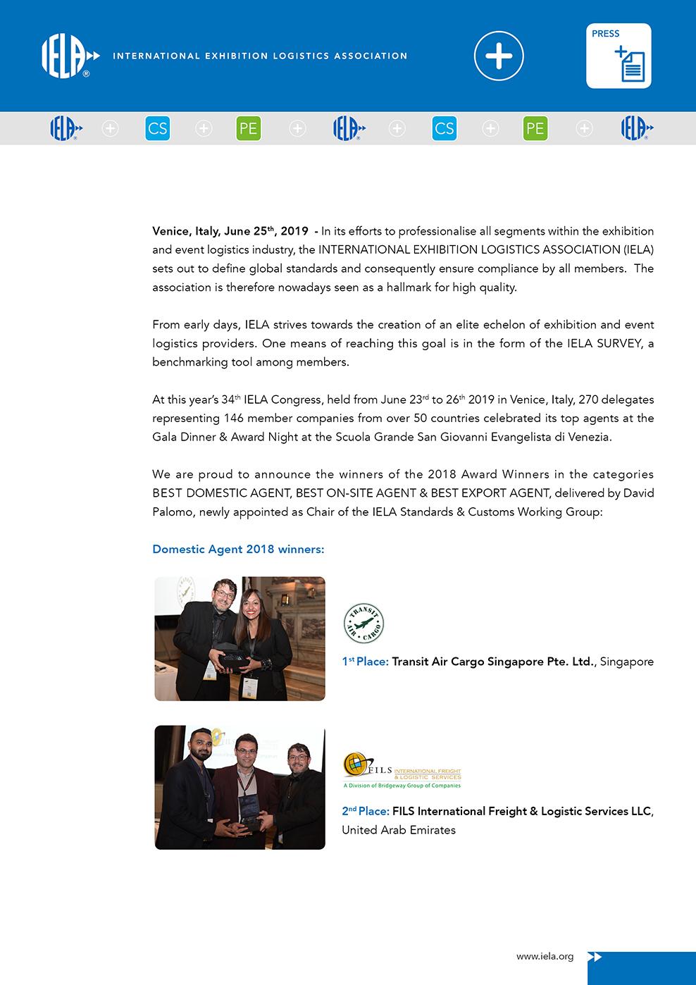 IELA Press Venice 20192